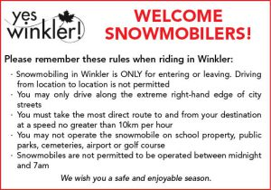 City of Winkler welcomes snowmobilers
