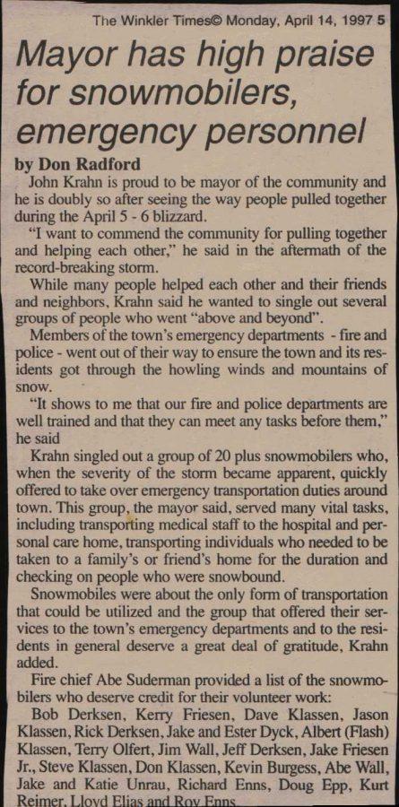 Winkler Times, April 14, 1997